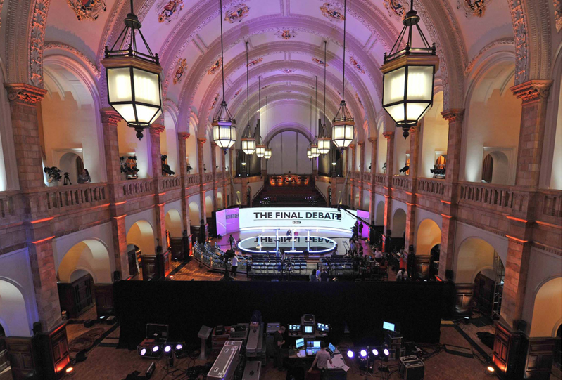The BBC's 2010 General Election leaders' debate was also held in the Great Hal