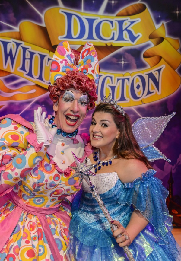 Dick Whittington - Panto Photocall. The Birmingham Hippodrome. 7th September 2016. Pictured are Andrew Ryan ( Sarah the Cook) and Jodi Prenger (Fairy Bow Bells). Picture by Simon Hadley 07774 193699 www.simonhadley.co.uk