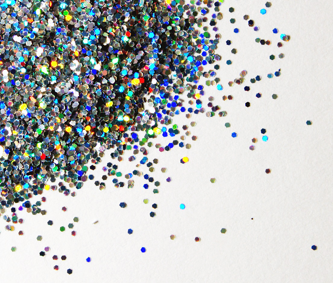Multi-coloured glitter