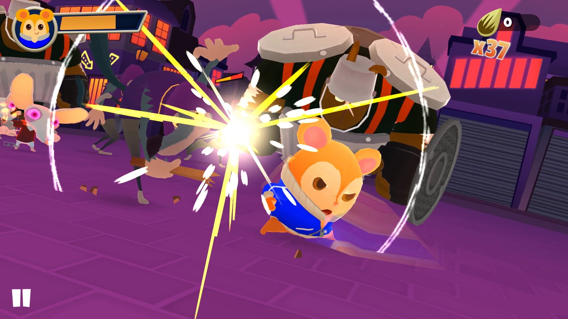 In Hamsterdam, you play as Pimm the kung-fu master hamster.