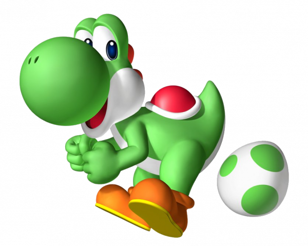 Yoshi lays eggs, just like chickens. Therefore, he is a chicken.