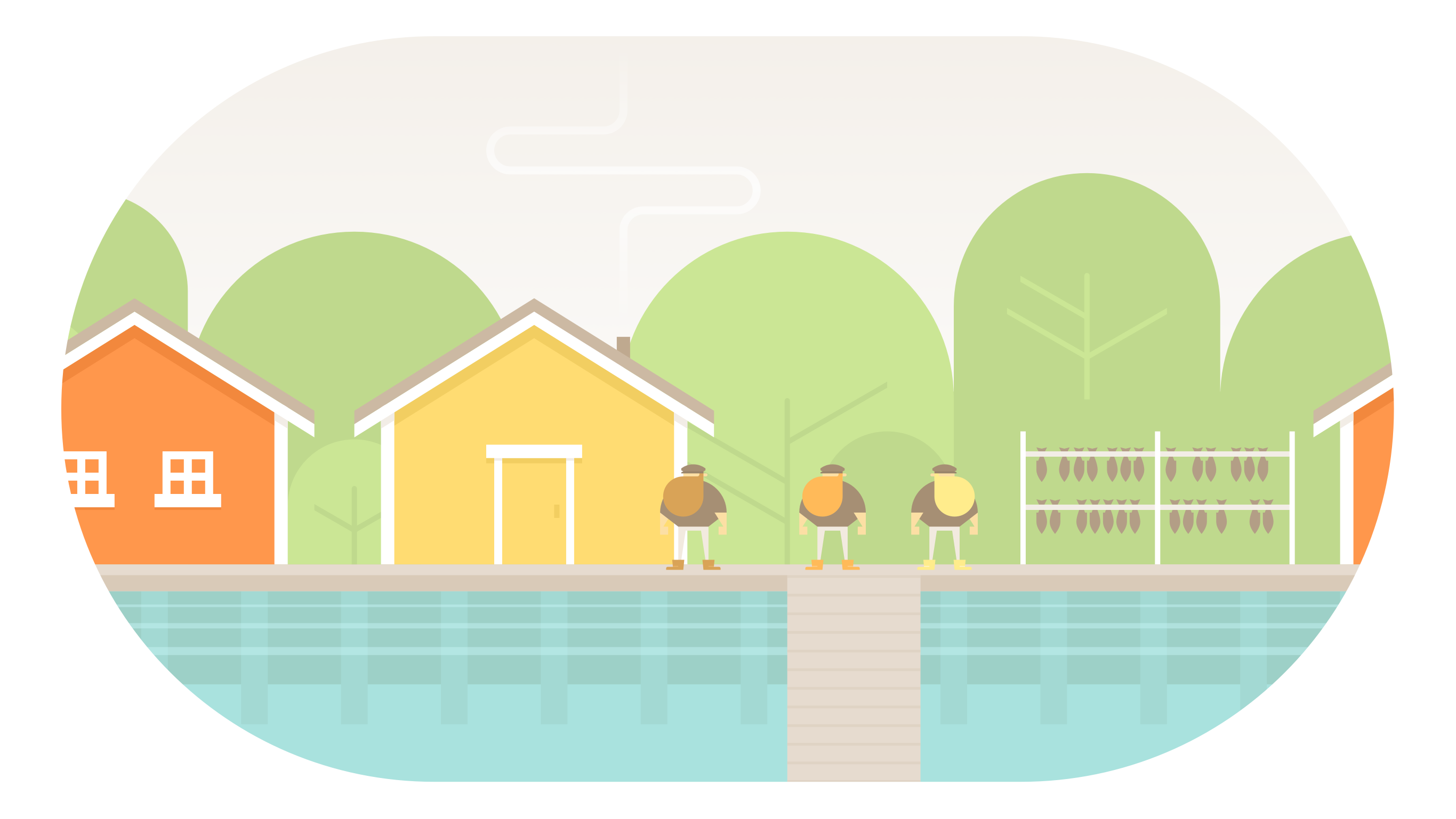 Quiet Adventure Game Burly Men At Sea's artwork never fails to impress