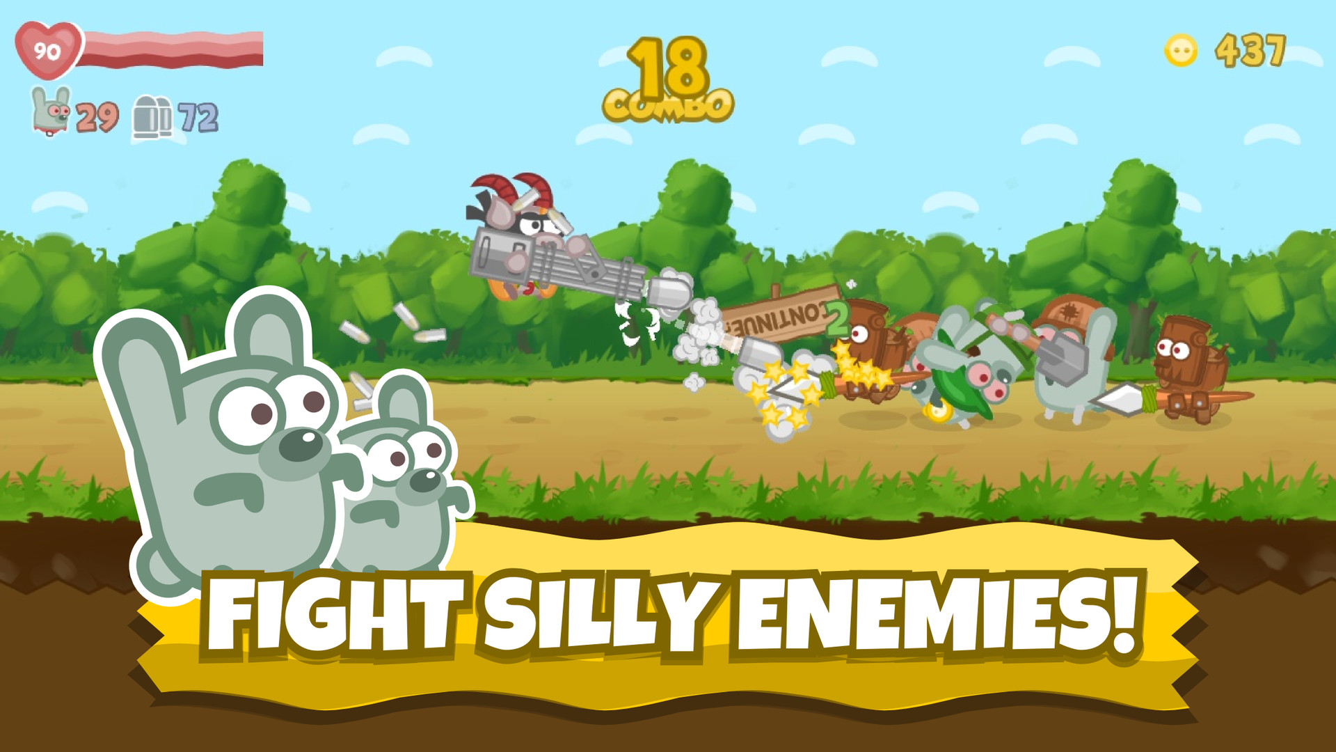 Bacon may die image: 'fight silly enemies'