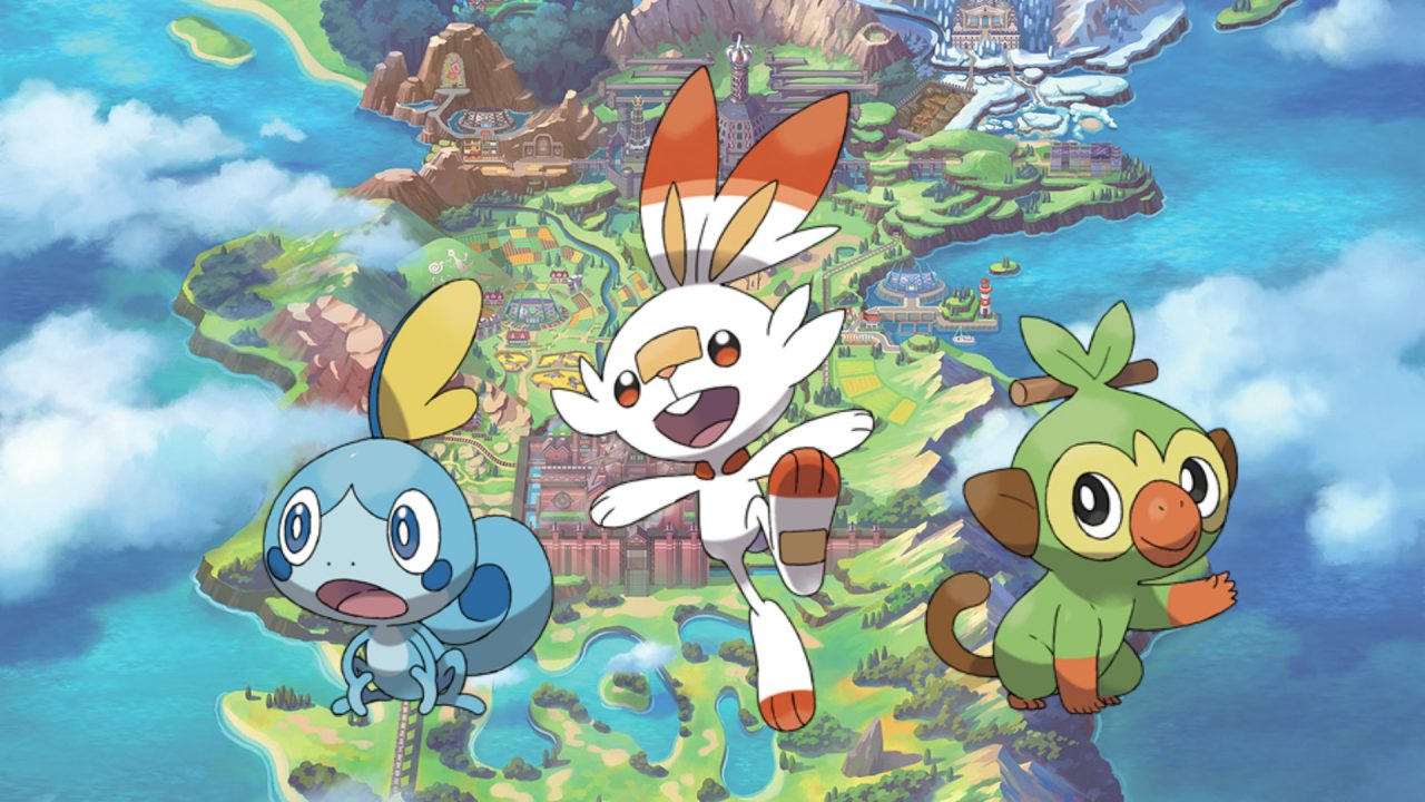 Pokemon Sword and shield featuring three new starters and a new region