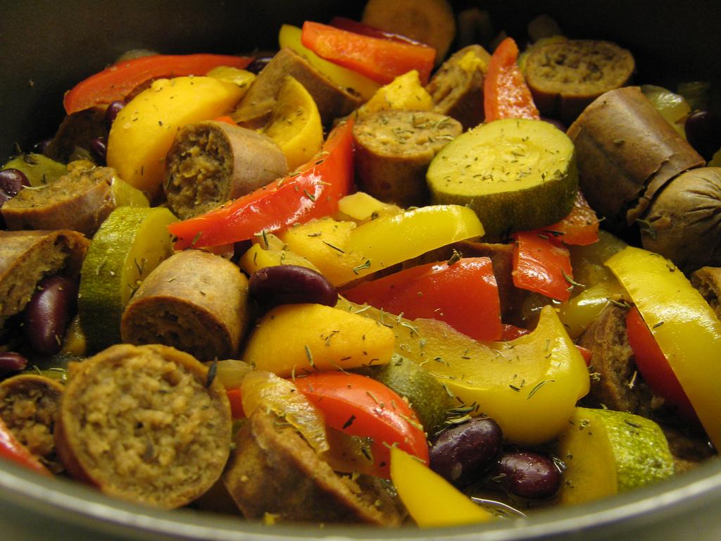 vegetarian sausages